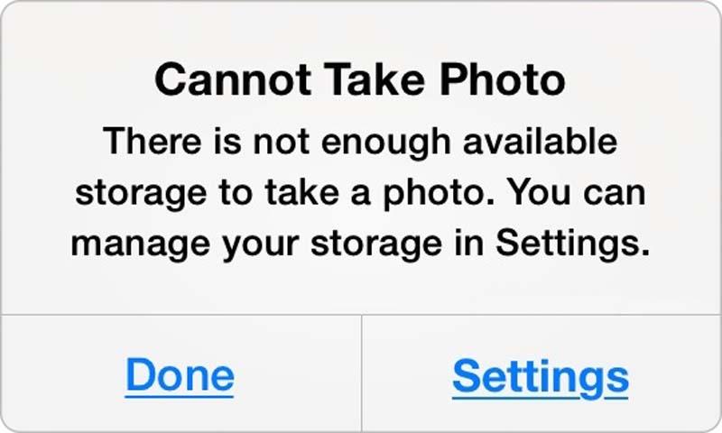 حل مشكلة Cannot take photo في الايفون