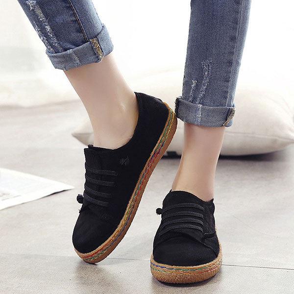 Suede Slip On Shoes Ladies