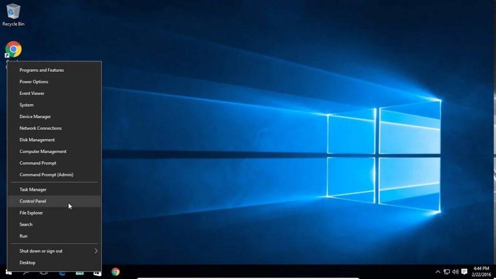 طريقة فتح لوحة التحكم على Windows 10