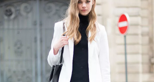 طريقة ارتداء سترة بيضاء مع طلة انيقة